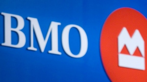 The BMO logo is seen at the Bank of Montreal's annual general meeting in Toronto Thursday, March 1, 2007. (Adrian Wyld / THE CANADIAN PRESS)