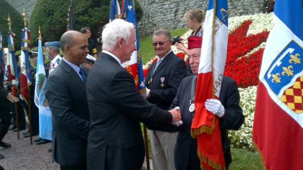 In this photo posted to his Twitter account, Governor General David Johnston marks the 70th anniversary of the Battle of Dieppe in France.