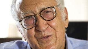 Former Algerian foreign affairs minister and new Syria envoy Lakhdar Brahimi answers a questions during an interview with The Associated Press in Paris, Sunday Aug. 19, 2012. (AP Photo/Jacques Brinon)