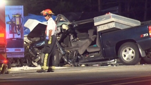 Emergency crews are on the scene after a fatal car collision in Caledon, Ont., on Saturday, Aug. 18,