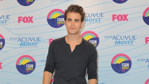 Paul Wesley poses backstage at the Teen Choice Awards on Sunday, July 22, 2012, in Universal City, Calif. (Photo by Jordan Strauss/Invision/AP)
