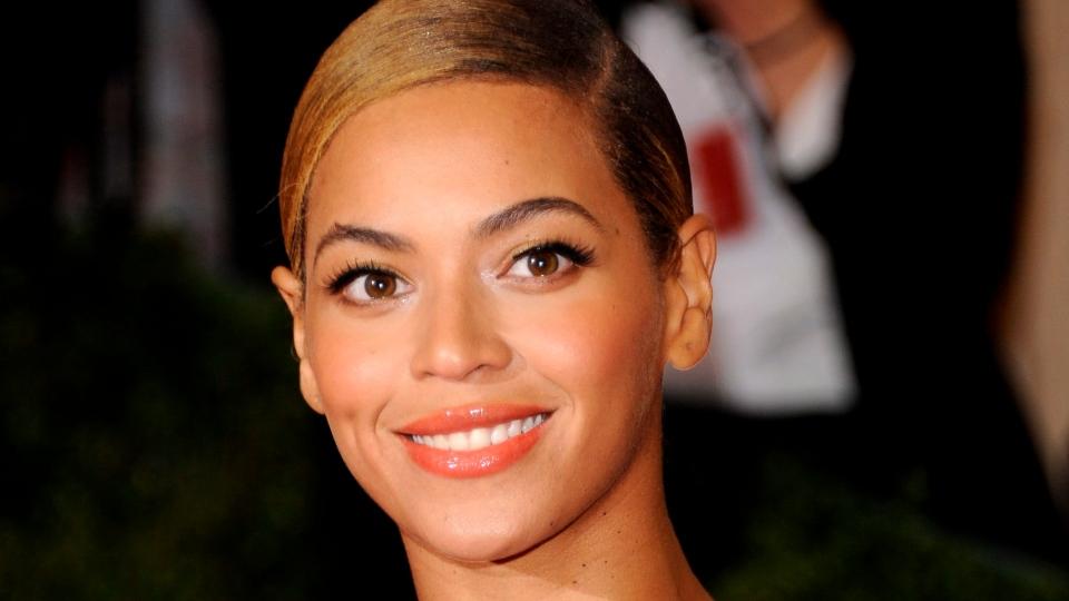Beyonce Knowles at the Metropolitan Museum of Art Costume Institute gala benefit, celebrating Elsa Schiaparelli and Miuccia Prada in New York, Monday, May 7, 2012. (AP / Evan Agostini)