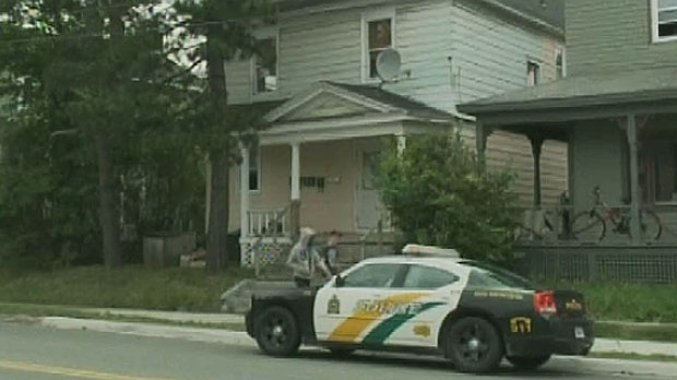 Cape Breton Regional Police investigate a homicide at an apartment in Sydney, N.S. (CTV Atlantic)