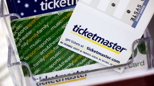 In this May 11, 2009 file photo, Ticketmaster tickets are shown at a box office in San Jose, Calif. (AP Photo/Paul Sakuma, file)