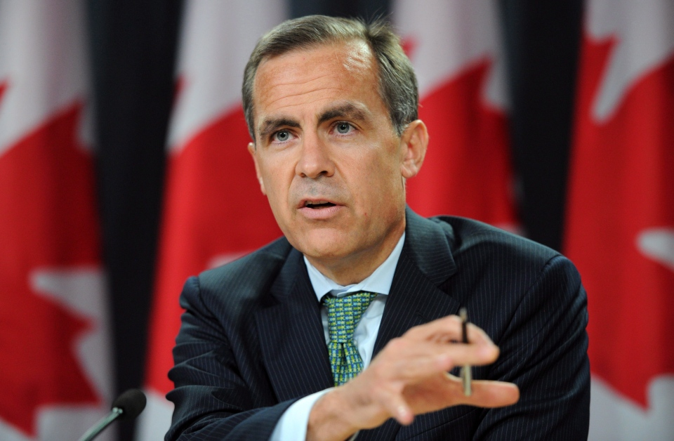 Mark Carney, governor of the Bank of Canada, holds a press conference at the National Press Theatre in Ottawa on Wednesday, July 18, 2012. (Sean Kilpatrick / THE CANADIAN PRESS)
