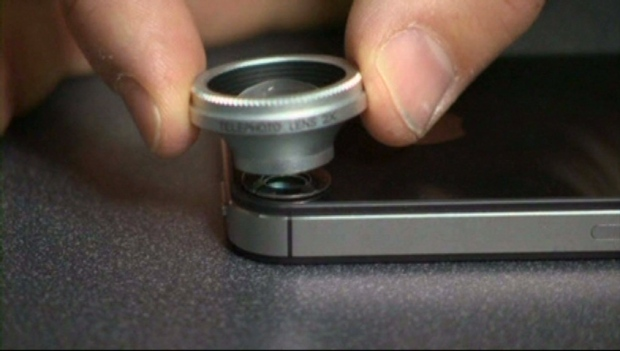 An add-on lens made for a smartphone claims to improve cell phone pictures.
