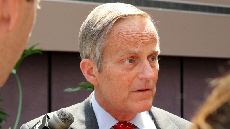 This Aug. 10, 2012 file photo shows Todd Akin, Republican candidate for U.S. Senator from Missouri taking questions after speaking at the Missouri Farm Bureau candidate interview and endorsement meeting in Jefferson City, Mo.