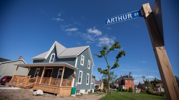 Beth Ross' newly constructed home in Goderich, Ont., is pictured Monday, Aug. 20, 2012, on the eve of the one-year anniversary of an F3 tornado which ripped through the heart of the lakeside community. The twister destroyed Ross' home and many others on her street. (Geoff Robins / THE CANADIAN PRESS)