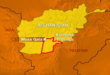 CTV map detailing the location of Musa Qala, Afghanistan