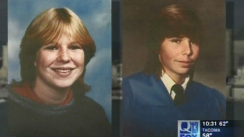 "Tanya Van Cuylenborg and Jack Cook, shown in this image from ""Washington's Most Wanted"" were both murdered in 1987."