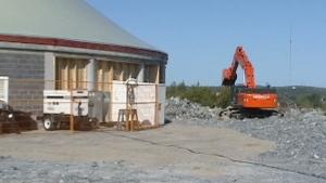 Church being built