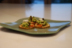 Smoked Salmon and Avocado Salsa Fraiche