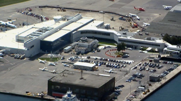 An aerial view of Billy Bishop Toronto City Airport on Friday, Aug. 27, 2010.