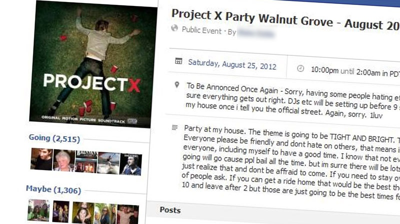 Police shut down a Project X inspired party in Walnut Grove, and plan to kibosh more planned events after finding invites on social media. (CTV)