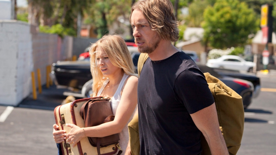 Kristen Bell, left, and Dax Shepard in Open Road Films' 'Hit and Run.'