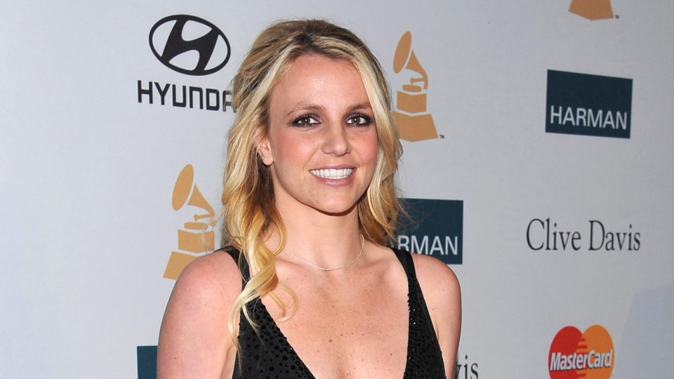 Britney Spears arrived at the Pre-GRAMMY Gala & Salute to Industry Icons with Clive Davis honoring Richard Branson in Beverly Hills, Calif., Feb. 11, 2012. (AP / Vince Bucci)