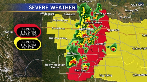Edmonton Radar Map Weather warnings issued for Edmonton and area end | CTV News