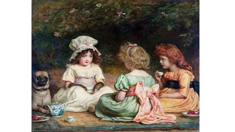 Afternoon Tea was painted by John Everett Millais in 1889.
