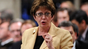 Human Resources Minister Diane Finley a question during Question Period in the House of Commons in Ottawa on Thursday, June 21, 2012. (Sean Kilpatrick / THE CANADIAN PRESS)
