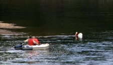 Rescue teams search the Ouareau River in Quebec
