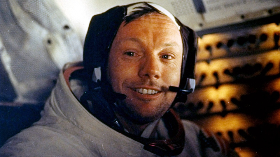 Apollo 11 commander Neil A. Armstrong is shown inside the Lunar Module while on the lunar surface, July 20, 1969. (AP / NASA)