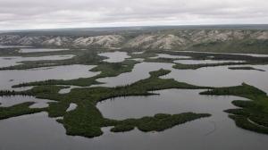 The Mackenzie River Delta is shown in Northwest Territories, Aug. 10, 2009. (AP / Rick Bowmer)