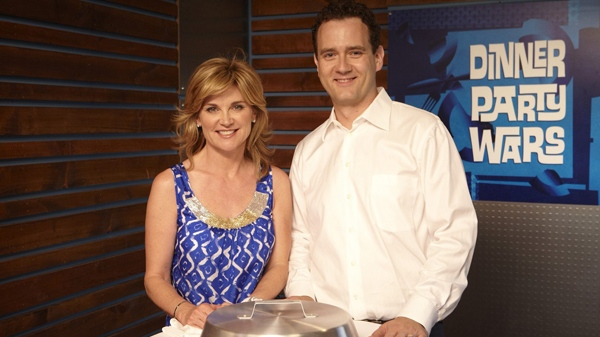Celebrity event planner Anthea Turner, left, and chef Corbin Tomaszeski are seen in this undated handout photo. Turner and Tomaszeski are judges of 'Dinner Party Wars' that debuts Wednesday, September 1, 2010, on Food Network Canada.