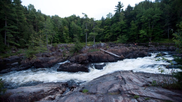 A river is shown at Dorwin park in Rawdon, Que., Friday, Aug. 24, 2012.