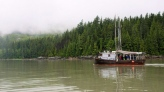 The Suncrest, a 42 foot former commercial fishing boat passes the site of the proposed Enbridge Northern Gateway bitumen terminal on Douglas Channel, south of Kitimat, B.C., on Wednesday, June 27, 2012. THE CANADIAN PRESS/Robin Rowland