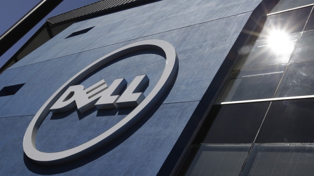 The sun is reflected in the exterior of Dell Inc.'s offices in Santa Clara, Calif. on Aug. 21, 2012.