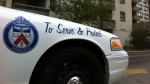 A Toronto police cruiser is seen in this undated photo.