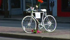 Whyte Ave. & 101 St. Ghost bike