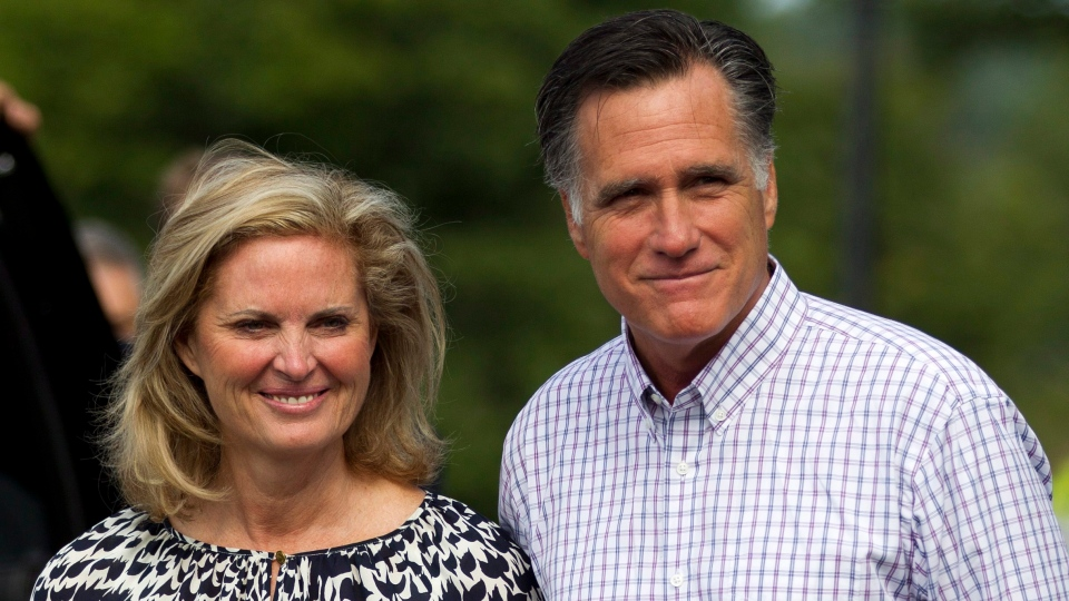 Republican presidential candidate, former Massachusetts Gov. Mitt Romney and his wife Ann, leave Brewster Academy after working on convention preparations, Monday, Aug. 27, 2012, in Wolfeboro, N.H. (AP / Evan Vucci)
