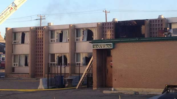 The Shamrock Hotel, a historic Calgary building built in the 1900s, has caught fire on Tuesday morning.