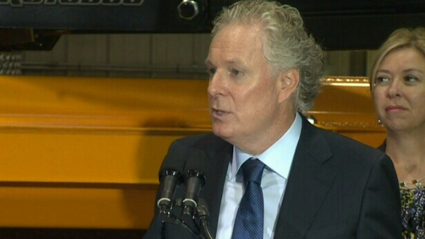 Liberal Leader Jean Charest holds a press conference in Quebec City on Tuesday, Aug. 28, 2012.