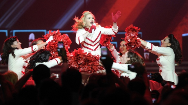 Madonna performs in Philadelphia on Aug. 28, 2012.