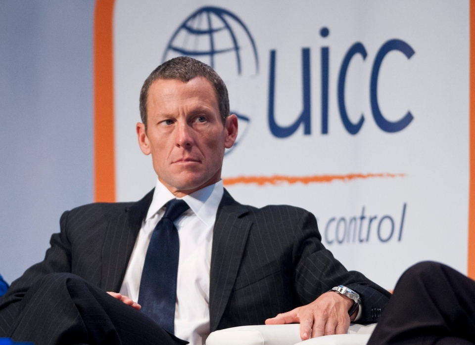 Lance Armstrong listens at the World Cancer Congress in Montreal Wednesday, Aug. 29, 2012. (Graham Hughes / THE CANADIAN PRESS)