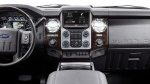 The interior of a 2013 F-Series Super Duty pickup truck, equipped with Ford's high-tech Sync voice recognition system. (THE CANADIAN PRESS/HO - Ford Canada)
