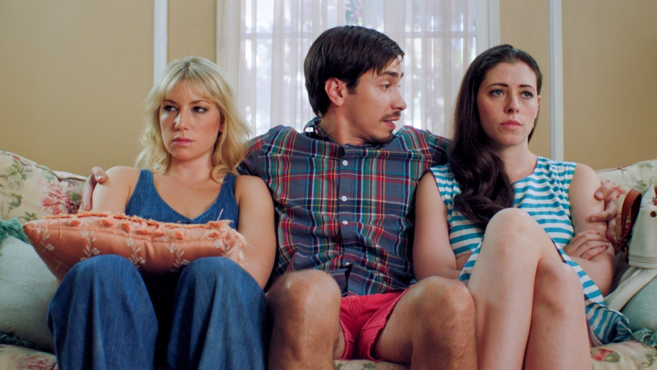 Ari Graynor, Justin Long and Lauren Miller in a scene from Alliance Films' 'For A Good Time, Call.'