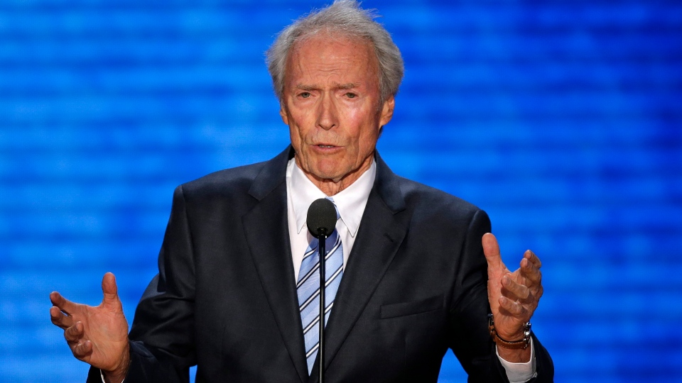 Actor Clint Eastwood addresses the Republican National Convention in Tampa, Fla., on Thursday, Aug. 30, 2012. (AP / J. Scott Applewhite)