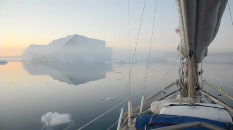 A group of Arctic adventurers sailed the northernmost route through the Northwest Passage.