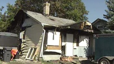 A home on Sadler Avenue was badly damaged in a fire that broke out in the early morning Friday.