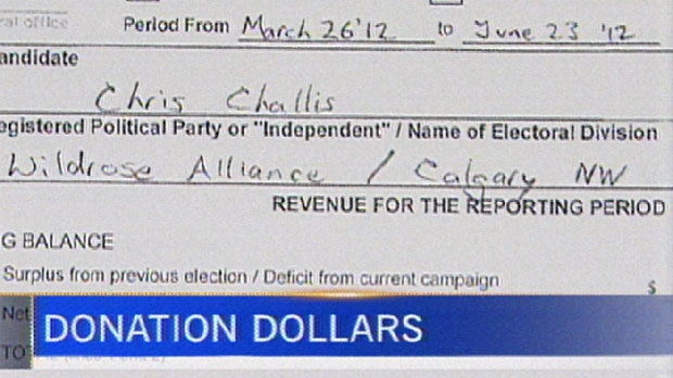 Elections Alberta has released the campaign donations and contributions of everyone who ran in the 2012 provincial election.