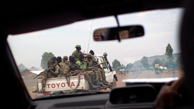 Congolese FARDC, windshield, eastern Congo