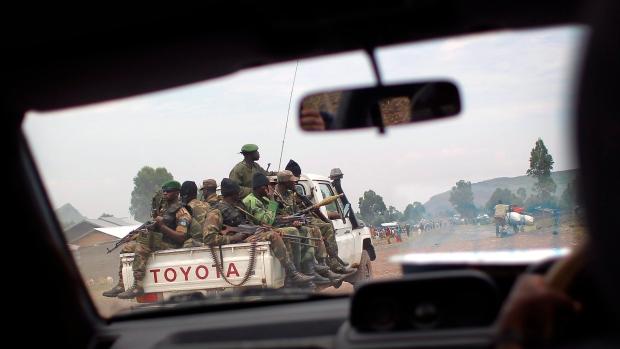 Congolese FARDC, windshield, eastern Congo
