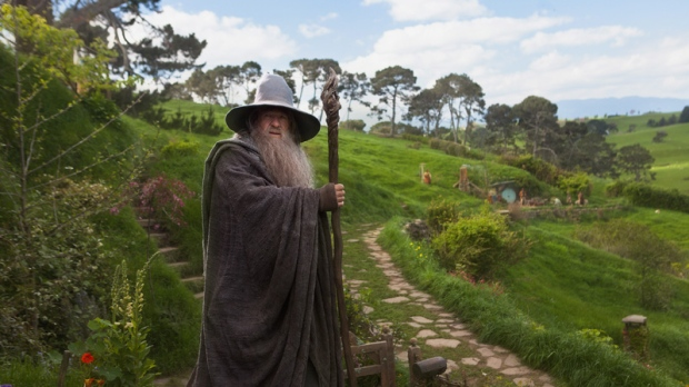 Ian McKellen as Gandalf in a scene from 'The Hobbit: An Unexpected Journey.'