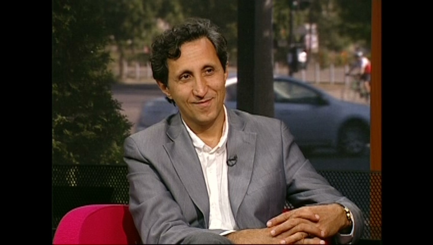 Amir Khadir sits in the CTV Montreal studio