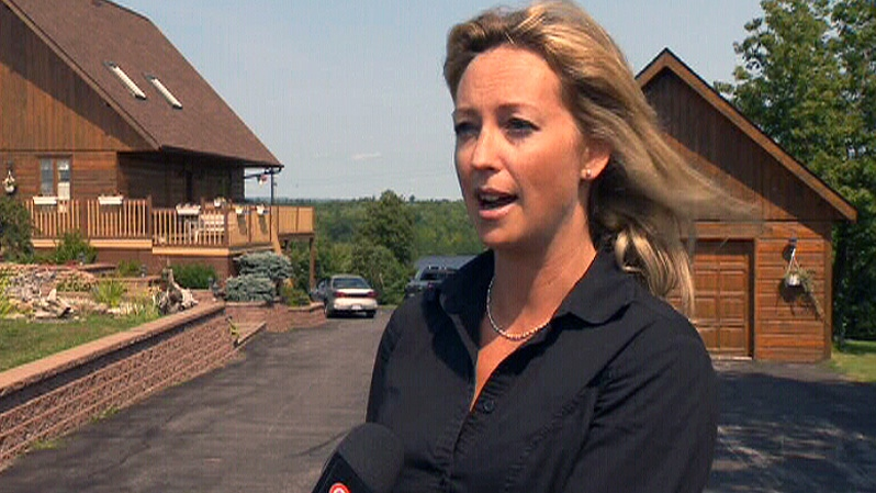 Rebecca Collett, a Remax realtor, speaks with CTV News in Hawkesbury, Ont. on Saturday, Sept. 1, 2012.