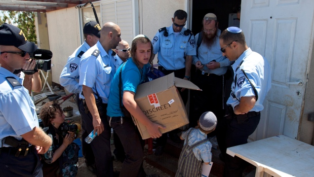 Isaeli police, West Bank, settlement
