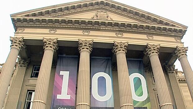 The Alberta Legislature building celebrated its 100th birthday on Sunday.